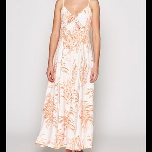 NEW NWT Joie Almona Peach Floral Small Maxi Dress